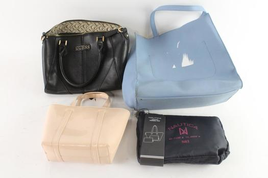 Guess And Other Handbags And More, 4 Pieces