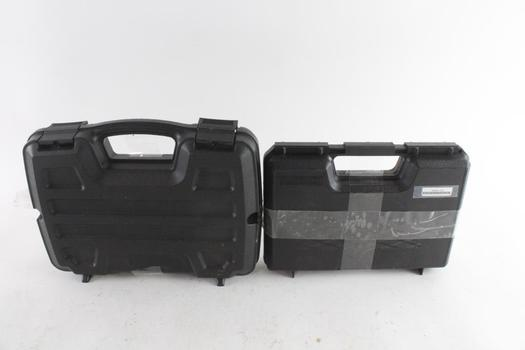 GunGuard And Other Hard Plastic Sidearm Cases, 2 Pieces