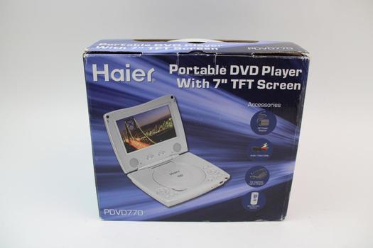 "Haier PDVD770 7"" TFT LCD Portable DVD Player"