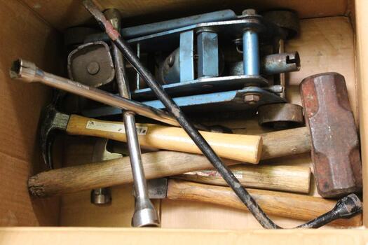 Hammer, Jack, Sledgehammer Etc 6 Items
