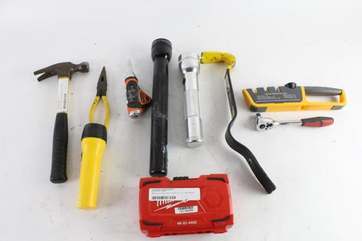 Hammer, Knife Sharpener And More, 10 Pieces