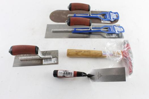 Hammer, Pool Trowel, And More, 5 Pieces