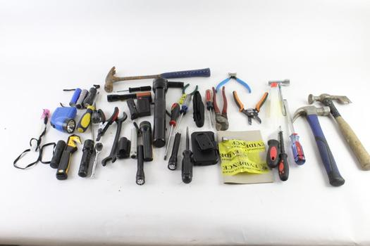 Hammers, Flashlights And More, 20+ Pieces