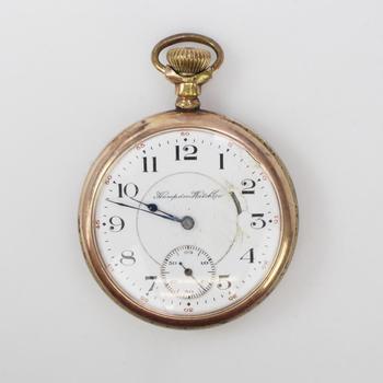 Hampden Watch Co 10k GP Pocket Watch