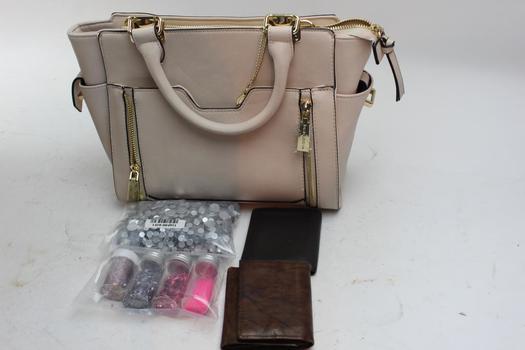 Handbag, Wallets, Glitter: Big Buddha, Fossil And More: 4 Items