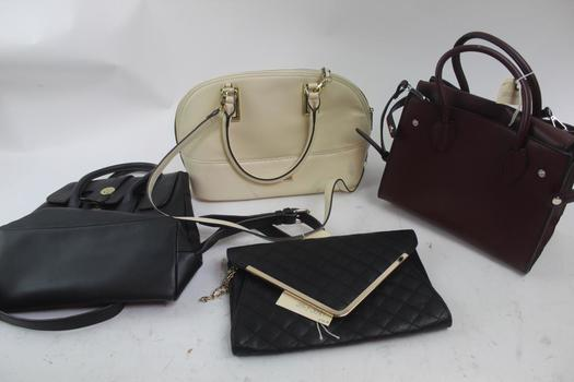 Handbags And Backpack: Anne Klein, Zara Basic, Urban Expressions: 4 Items