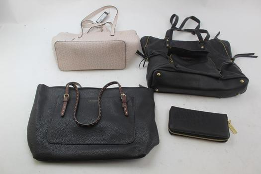 Handbags And Wallet: Guess, Steve Madden, Liz Claiborne And More: 4 Items