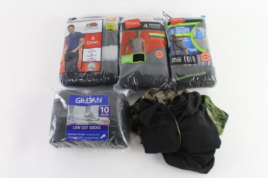 Hanes And Other Mens Boxer Briefs, Socks And More, 5 Pieces
