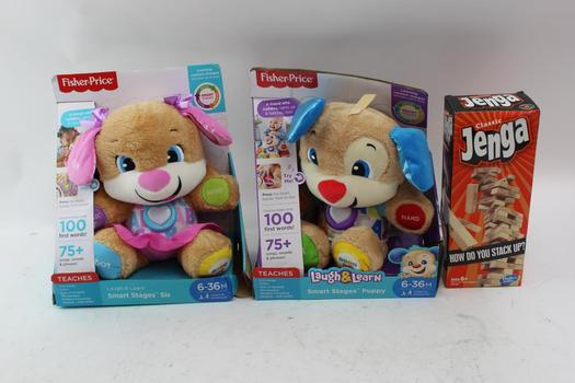 Hasbro Jenga Game And Fisher-Price Toys, 3 Pieces