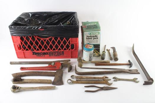 Hatchet, Bottle Jack, And More, 10+ Pieces