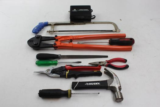 Hdx Bolt Cutter, Targus Inverter, Great Neck Handsaw And More: 10 Pcs