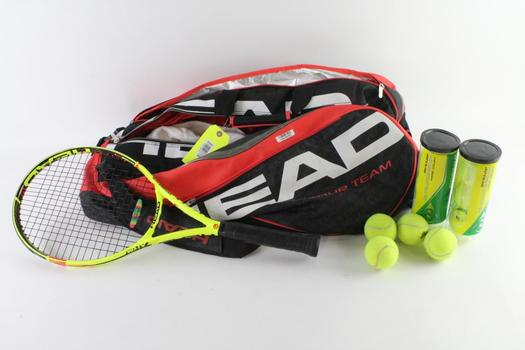Head Tennis Racquet And Tennis Racquet Bag, 2 Pieces