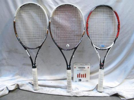 Head & Wilson Tennis Rackets In Head Sports Bag 4 Pieces
