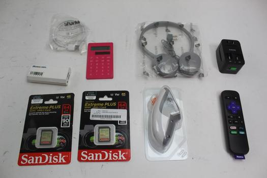 Headphones, Sandisk Sd Cards 64gb, & More; 5+ Pieces