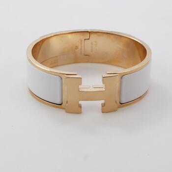 Hermes Clic Clac H Bracelet In Blanc