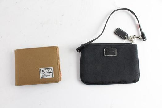Herschel Mens Wallet And Coach Wristlet
