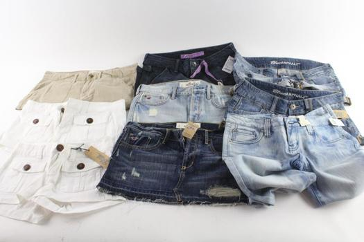 Hollister And Other Brands Juniors Jeans And Shorts, 9 Pieces