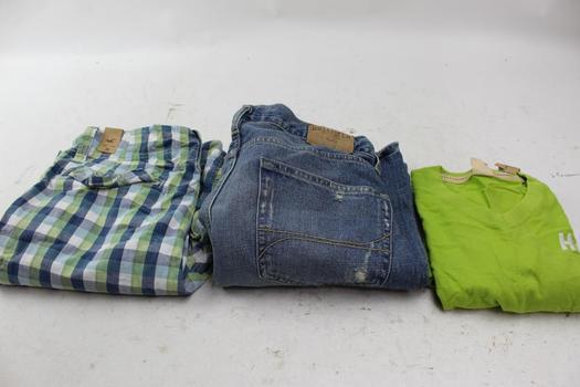 Hollister Clothing Lot, Size XL, 36, 34x32, 3 Pieces