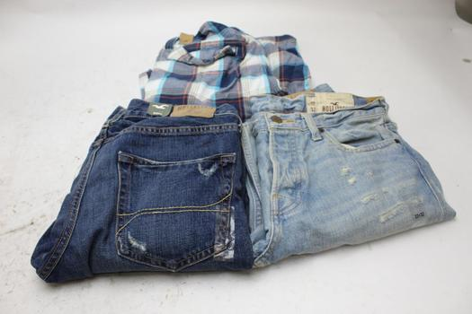 Hollister Jeans And Shorts, Size 32x32, 32, 3 Pieces