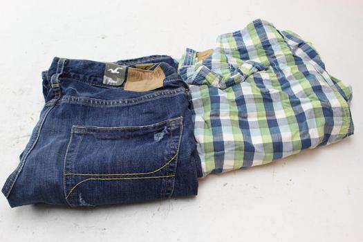 Hollister Shorts And Jeans, Size 33, 33x32, 2 Pieces