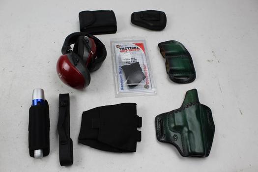 Holsters, Ear Muffs, Bushnelll Binoculars, Flashlight And More: 5+ Items