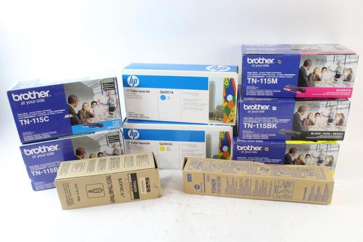 HP Color LaserJet, Brother Toner Cartridges, 6 Pieces