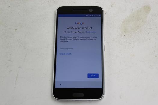 HTC 10, 32GB, Verizon, Google Account Locked, Sold For Parts