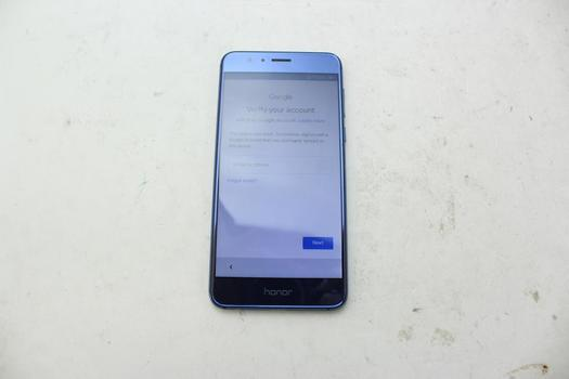 Huawei Honor 8, 32GB, Unknown Carrier, Google Account Locked, Sold For Parts