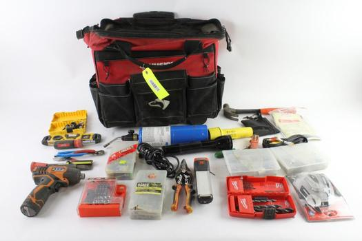 Husky Rolling Tool Bag With Tools, 10+ Pieces