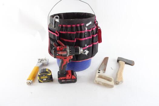 Husky Tool Bag, Hatchet And More 5+pieces
