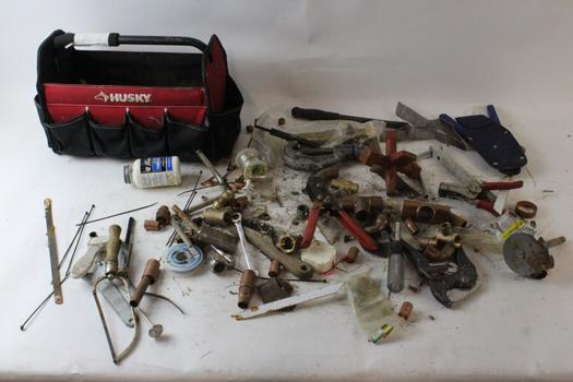 Husky Tool Bag With Tools, 10+ Pieces