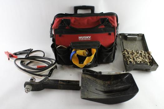 Husky Tool Bag With Tools, 5+ Pieces