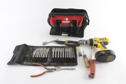 Husky Tool Bag With Tools, 8 Pieces