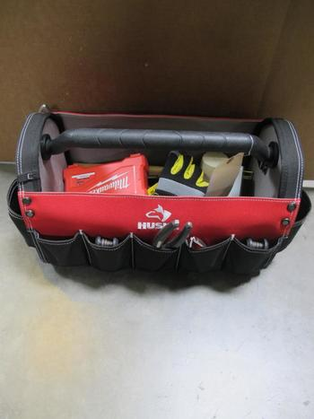 Husky Tool Basket, Screwdrivers, Mallet, Hammer, Screw Bits And More: 10+ Pieces