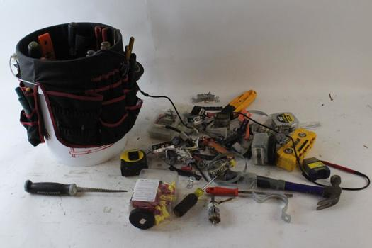 Husky Tool Bucket Organizer With Tools, 10+ Pieces