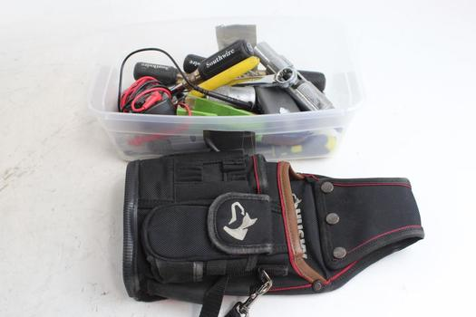 Cen Tech Clamp Meter : Husky tool pouch wrenches cen tech clamp meter
