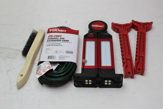 Hyper Tough 25 Extension Cord Led Worklight And More