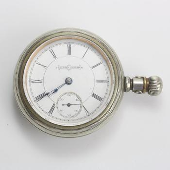 Illinois Watch Co. Pocket Watch With 9kt Accent