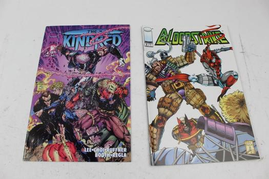 Image Bloodstrike And The Kindred Comic Books, 10 Pieces