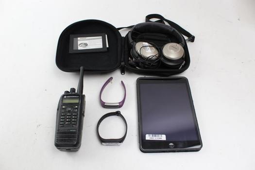 Ipad, Motorola Xpr6550 Radio, Bose Qc-2 Headphones, Fitness Trackers: 5 Items