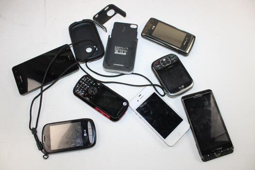 Iphone, LG, Samsung Cell Phone Lot,  Pieces, Sold For Parts