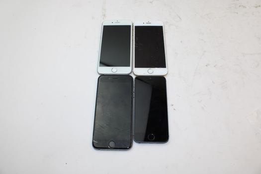 IPhone Lot, 4 Pieces, Sold For Parts