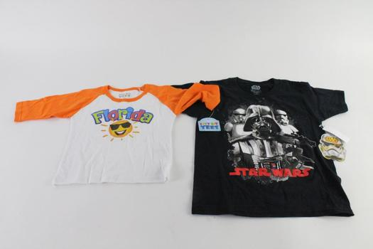 Itty Bit Tees 3T Long Sleeve Shirt And Extra Small Star Wars Kid's Shirt, 2 Pieces