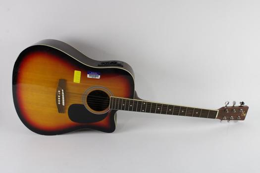 J Reynolds Acoustic Guitar With Electrical Component