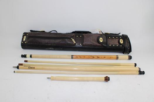 Jacoby Pool Cues In Action Case