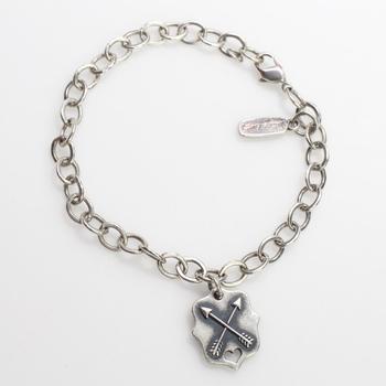 James Avery 11.43g Sterling Silver 'Friends Forever' Charm Bracelet