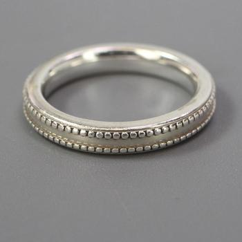 James Avery Silver Victorian Beaded Band Ring, 2.88g