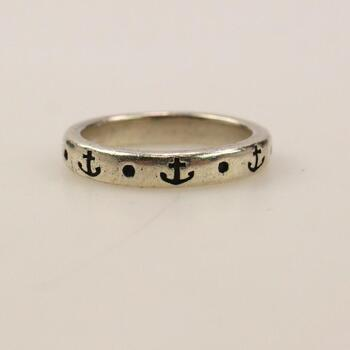 """James Avery Sterling Silver """"Anchor Of Hope"""" Ring"""