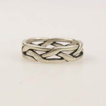 """James Avery Sterling Silver """"Crown Of Thorns"""" Ring"""
