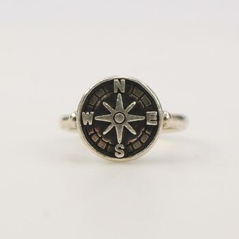 """James Avery Sterling Silver """"Lifes Journey"""" Ring"""